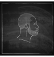 vintage chalk of male head with beard on vector image