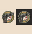 vintage military colorful logotype vector image