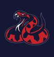 viper snake mascot vector image vector image