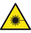 Warning Lasers Safety Sign vector image vector image