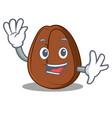 waving coffee bean character cartoon vector image vector image