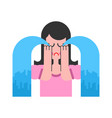 woman is crying female hysterics fountains of vector image vector image