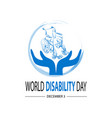 World disability day concept