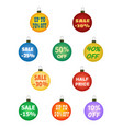 xmas balls with promotional offers vector image vector image
