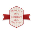 christmas realistic banner graphic element vector image