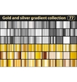 Gold and silver gradient collection vector image