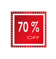 sale 70 off banner design over a white vector image