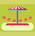 amusement park attractions swing ride carousel vector image