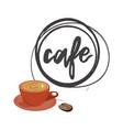 cafe round logo vector image