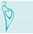 happy pregnancy vector image