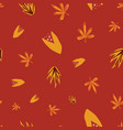 abstract autumn florals seamless doodle vector image vector image