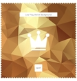 Abstract gold polygonal background vector image vector image