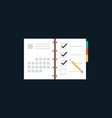 agenda list flat design icon concept vector image