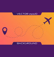 airplane is in a dotted line vector image vector image