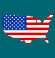 american flag icon happy 4 th july and vector image
