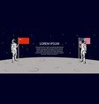 another side moon astronaut china and vector image vector image