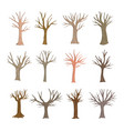 autumn trees set collection vector image