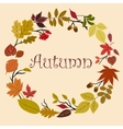Autumn wreath with acorns and leaves vector image