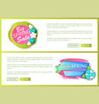 big spring sale web site and banner with offers vector image