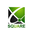 black green abstract square logo concept design vector image