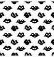 black paint lips seamless pattern vector image