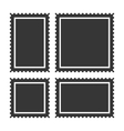 Blank Postage Stamps Set on White Background vector image