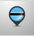 botswana map pin vector image vector image