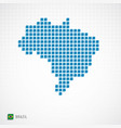 brazil map and flag icon vector image