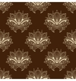 Brown and yellow eamless pattern with paisley vector image vector image