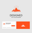 business logo template for hill landscape nature vector image vector image