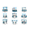 business people of meeting or teamwork vector image vector image