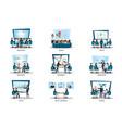business people of meeting or teamwork vector image