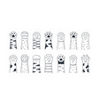 cat paws cute hand drawn dog or kitten claws vector image vector image