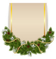 Christmas Decoration with Card vector image vector image