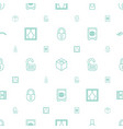 closed icons pattern seamless white background vector image vector image