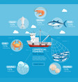 commercial fishing business plan infographics vector image vector image