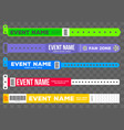 creative of bracelets for vector image vector image