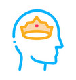crown man head icon outline vector image vector image