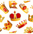 crowns pattern - seamless modern material design vector image vector image