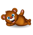 cute brown bear cartoon posing vector image vector image