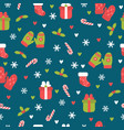 cute christmas seamless pattern christmas and new vector image vector image