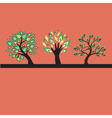 decorative trees vector image vector image
