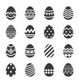 easter eggs icon isolated background set of vector image vector image
