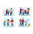 family traditions and relationships set vector image vector image