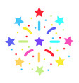 fireworks flat icon new year and christmas vector image