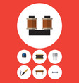 flat icon electronics set of coil copper bobbin vector image vector image
