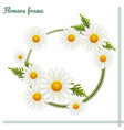 flowers frame one vector image vector image