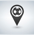 football ball icon map pin soccer ball map pin vector image vector image