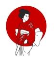 Geisha Portrait vector image