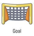 goal soccer icon cartoon style vector image vector image